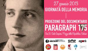 Giornata della Memoria 2013 - Paragraph 175 a Urbino