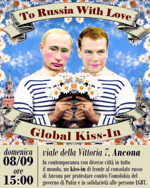 To Russia With Love: Global Kiss-In - Ancona